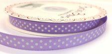 3 M Bertie's Bows Lila Con Blanco Polka Dot 9 mm cinta de grogrén, Artesanales, Envoltura