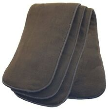 (Pack of 3) Teen/Adult 5 Layer Charcoal Bam Insert Soaker Pad Incontinence Cloth