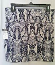 RUE 21 Women's Reversible Mini Skirt Gray/Animal Print Size Medium C78