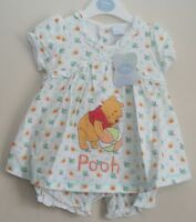 Baby Girl's Disney WINNIE THE POOH Dress & Bloomers Set NWT  Newborn-12 Months