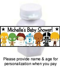 30 Baby Stars Wars Shower Birthday Party Mini Bubble Labels Stickers Favors Tags