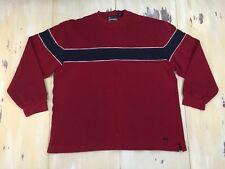 AMERICAN EAGLE - AE Performance Vtg 90s Red Striped Sweater Shirt, Mens XL