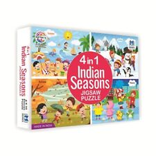 Colourful Jigsaw Puzzle 4 in 1 Indian Seasons For 36 months - 10 years Kids