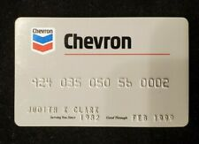 Chevron credit card exp 1999♡Free Shipping♡cc579