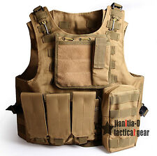 Adjustable Size Molle Tactical Molle Carrier Combat Vest Airsoft Police Gear
