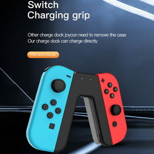 Joy-Con Charging Grip for Nintendo Switch Joy-Cons Controller V-Handle Charger