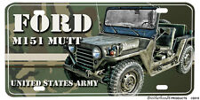 United States Army Ford M151 MUTT Jeep Multi Use Vehicle Aluminum License Plate