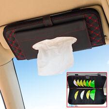 Car SUV Accessories Sun Visor CD Hanger Holder Tissue Box Paper Napkin Bag Red