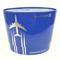 United Airlines Celebrating the Boeing 747 Amenities Flight Kit Blue Metal Tin