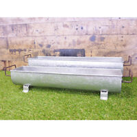 *SET OF 2* TROUGH Style Planters Plant Pots Troughs Metal Garden *Outdoor use*