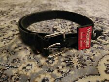 New Wrangler HERO Men's Genuine Top Grain Leather Belt Sizes 32 Made in Mexico