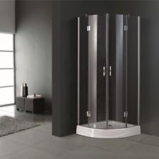 New 205x80cm Shower Cabin Enclosure Cubicle Quadrant Bathroom Screen Base Glass