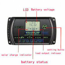 PWM 30A Solar Charge Controller 12V/24V LCD Display Dual USB Solar Panel Charger