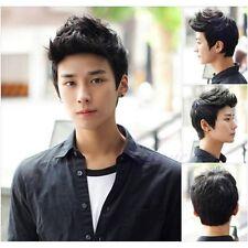 Hot Handsome boys new Korean short Brown Black men's Heat hair Cosplay wigs 1pcs