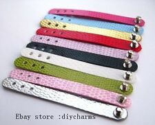 10pcs Adjustable PU Leather Ring DIY Ring Belt Slide Letters/Charm Free Shipping