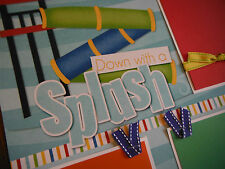 Down with a Splash Waterslide Pool Two 12x12 Premade Scrapbook Pages 4  Summer