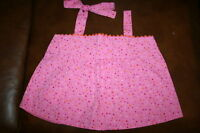 Lola et Moi, tie bow, girl Toddler sz 5, shirt top, pink polka-dot, new with tag