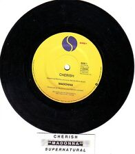 "MADONNA  Cherish  7"" 45 rpm vinyl record + juke box title strip"