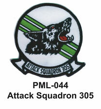 """ATTACK SQUADRON 305 Embroidered Military Large Patch, 4"""""""