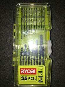 Ryobi 35pc Black Oxide Coated Drill Kit Wood Plastic Metal - FREE SHIP in Aust