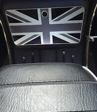 Scomadi Glove Box Sticker Wrap Decal METALLIC BLACK/GREY/SILVER UNION JACK