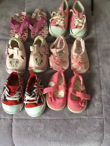 Six Pairs Pram Shoes Age 0 - 6 Months