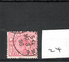 Victoria - (24)  Fiscal - Q Victoria - Revenue stamp -  halfpenny