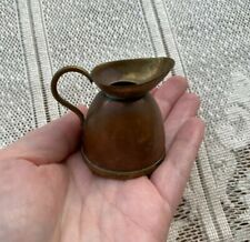 More details for vintage peerage miniature copper & brass jug made in england