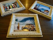 Scott Westmoreland 3 Art Print lot Surf Shack, Buttercup Buick Beach Ocean
