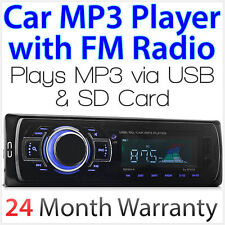 Single 1 DIN Car MP3 Player via USB SD Card FM Radio Head Unit Player Stereo OZ