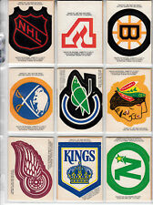 1973-74 OPC COMPLETE SET 1-264 + RINGS + TEAM LOGO a