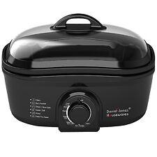 Slow Cooker Broiler Oven Cook Fondue Steamer Boil Roaster Deep Hot Pot Fat Fryer