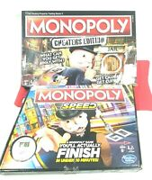 Monopoly Speed + Monopoly Cheaters Edition  Board Games for families Open Box