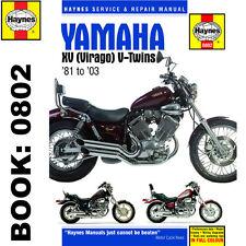 Yamaha XV535 XV700 XV750 XV920 XV1000 XV1100 Virago 1981-2003 Haynes Workshop Ma