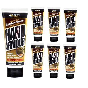 6 x EVERBUILD HAND ARMOUR Barrier Cream SKIN PROTECTION Unscented 100ml new uk
