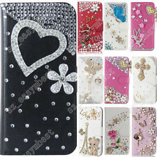 Rhinestone Cover Bling Crystal Flip Leather Wallet Stand Case For OPPO Cases