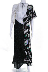 Jason Wu Womens Silk Floral Print Polka Dot Dress Multi Colored Size 2 11388586