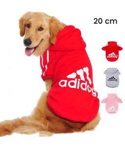 KayMayn Adidog Cane Felpe Cotone Dog Hoodies Vestiti 9XL e Ampia Scelta di Colori Pet Puppy Cute Cotton Warm Hoodies T-Shirt, Taglia S