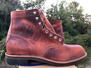 Chippewa Original 1939 Service Utility Boots English Tan Plain Toe 10.5 4353TAN