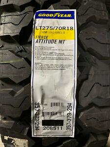 1 New LT 275 70 18 LRE 10 Ply Goodyear Fierce Attitude MT Mud Tire