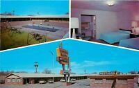 Chrome Postcard NM J085 Sahara Sands Motel Route 66 Tucumcari Whittington Multi