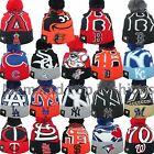 New Era MLB LOGO WHIZ 2 Pom Pom Knit Winter Beanie Hat Cap One Size Many Teams
