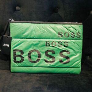 Hugo Boss Laptop Bag or Document Holder Green Nylon