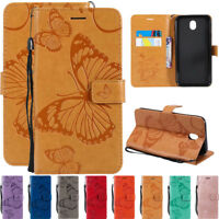For Samsung J1 J2 J3 J4 J5 J6 J7 Leather Flip Wallet Magnetic Card Stand Cover