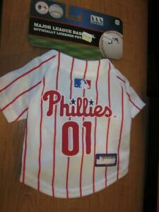 New Phillies Dog Jersey Size XS MLB Official Pet Wear X-tra Small