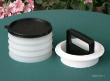 New Tupperware Lrg Hamburger Press & Freezer Set - Black / Sheer