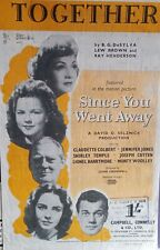 Together  VINTAGE SHEET MUSIC from 'Since you went away'