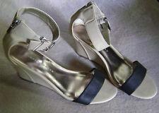 Women's LC Lauren Conrad Ankle Zip Strap Heel Casual Dress Sandal Shoes 8.5M