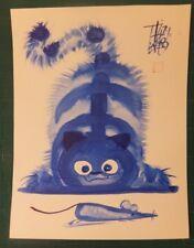 Chat Souris Laszlo Tibay Cat Mouse Lavis à l'encre de Chine India Ink washing