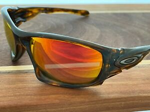 Oakley Ten X Sunglasses - RARE - Tortoise Shell frames with Fire Iridium Lenses